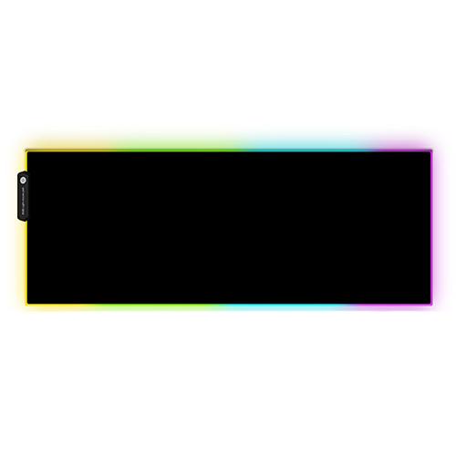 컴썸 RGB LED 게이밍 마우스 장패드, 혼합 색상, 1개
