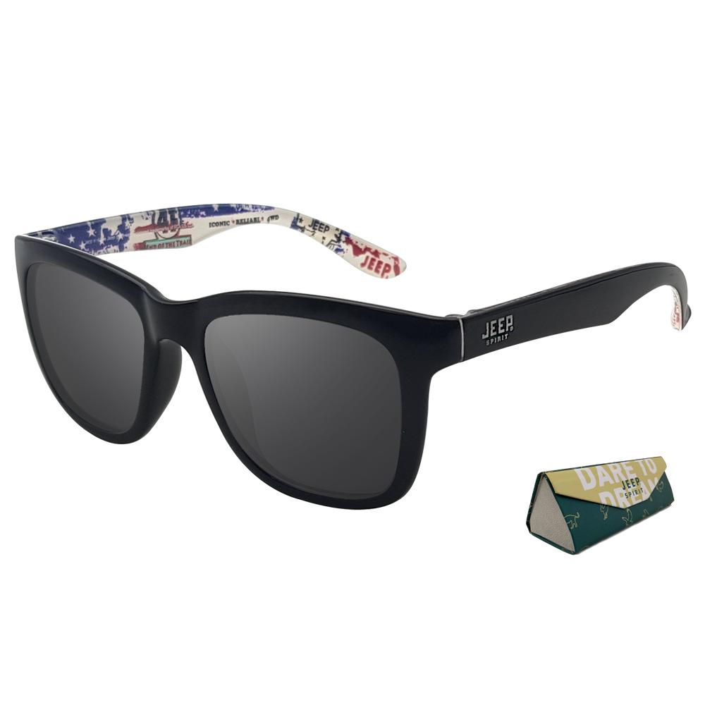 지프 편광 선글라스 R3027PS5 + 케이스, 렌즈(스모크), 안경테(유광 블랙)