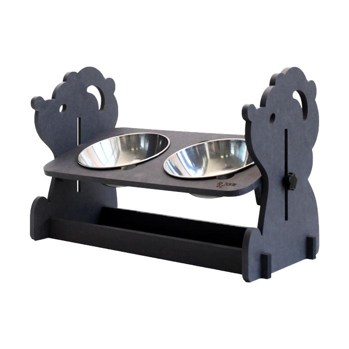 런메이크 각도높이조절 강아지 밥그릇 2구, A타입 비글푸들, 1개