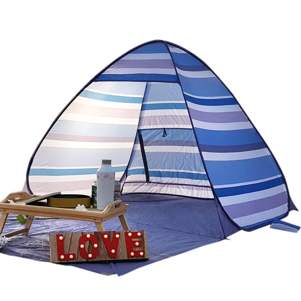 알뜨리 피크닉 원터치 텐트 대형 + 가방, 비치블루, 대형(2-3인용)-2-222991579