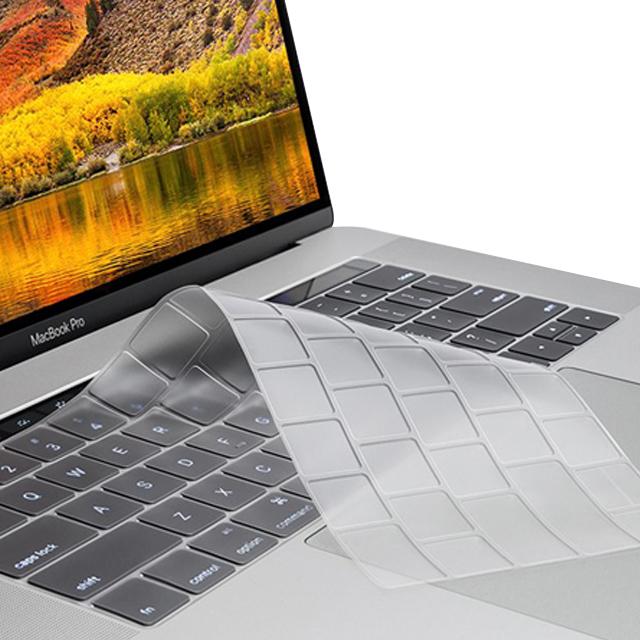 디케이 맥북 키보드 스킨 13형 터치바, 투명, 1개