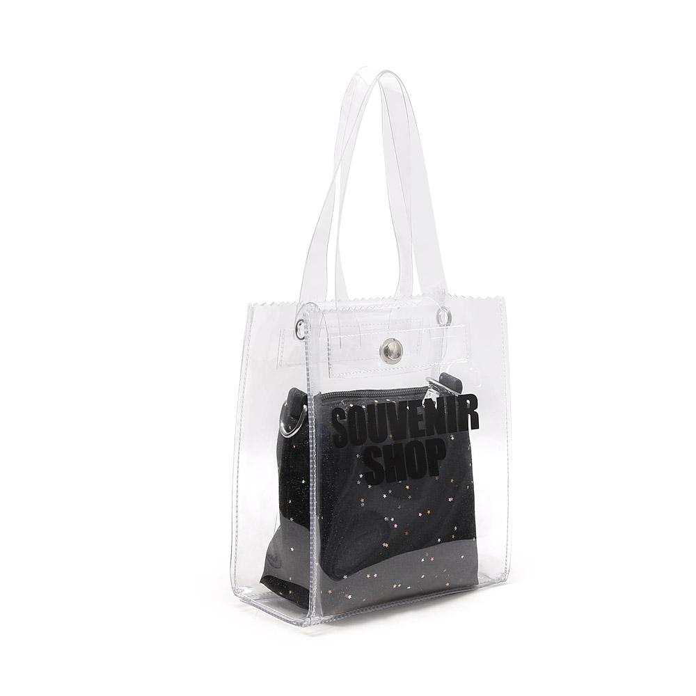 프롬헤븐 미밍카 PVC 투명가방