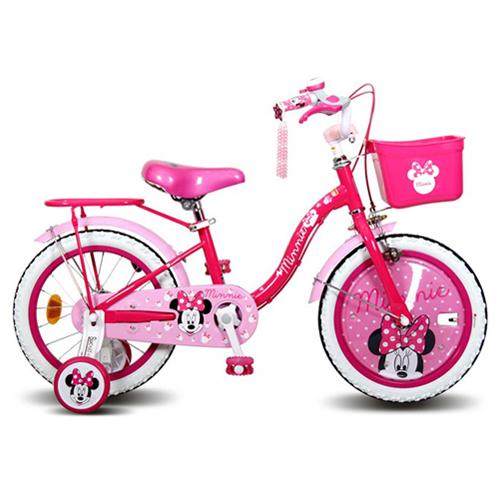 삼천리자전거 미니키즈 보조바퀴 자전거, 핑크
