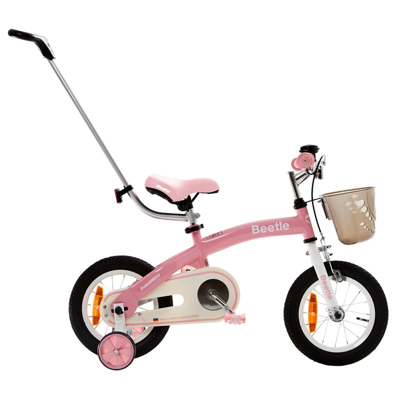 조코 2019년형 비틀 12 유아동 체인 자전거, Pink + White