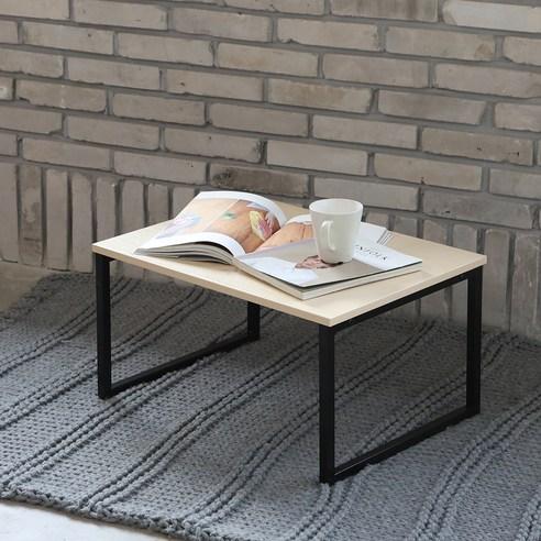 블루밍홈 심플 좌식 책상 60 x 45 cm, 메이플(B)
