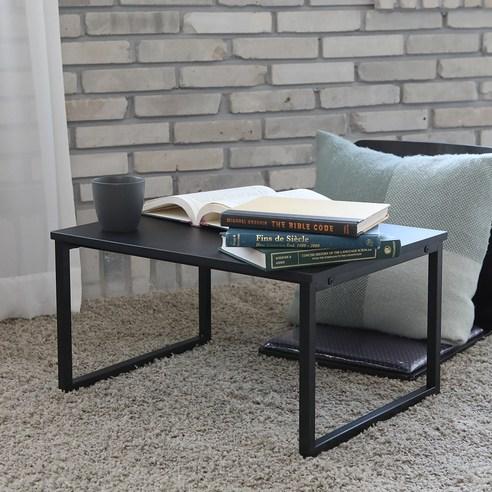 블루밍홈 심플 좌식 책상 60 x 45 cm, 블랙(B)
