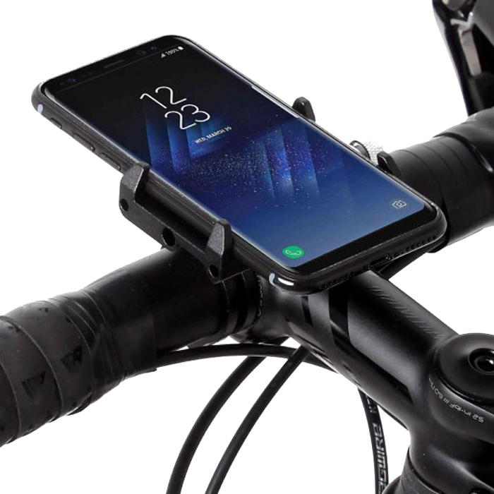 비엠웍스 슬림6 CNC 스마트폰 자전거 거치대, 블랙, 1세트