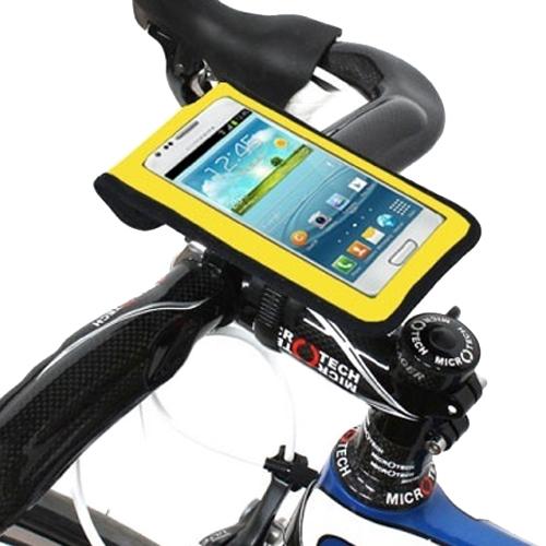 비엠웍스 슬림3 스마트폰 자전거 거치대 L, 옐로우, 1세트
