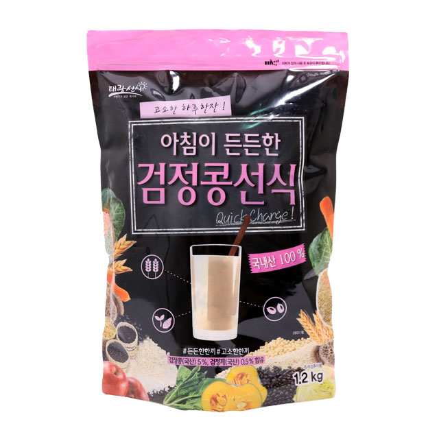 태광선식 아침이 든든한 검정콩선식가루, 1.2kg, 1개