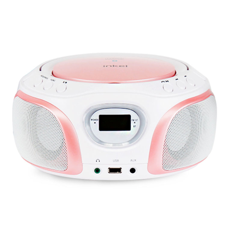 인켈 LED 블루투스 CD Player, IK-WP100, Pink