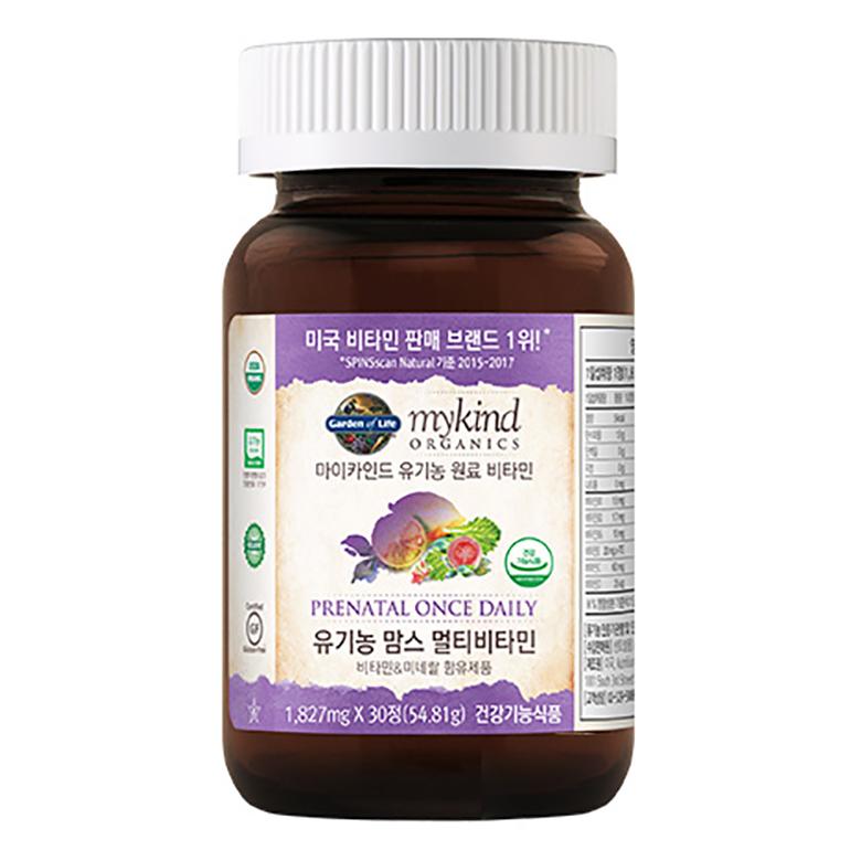 마이카인드 유기농 맘스 멀티비타민, 30정, 1개