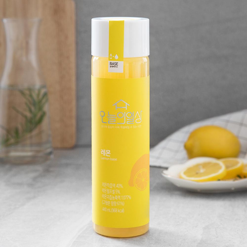 오늘의일상 레몬 음료 농축베이스, 440ml, 1개