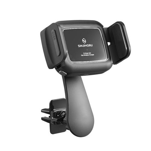 신지모루 오그랩 미니 차량용 무선충전 핸드폰 거치대, 혼합 색상, 1개