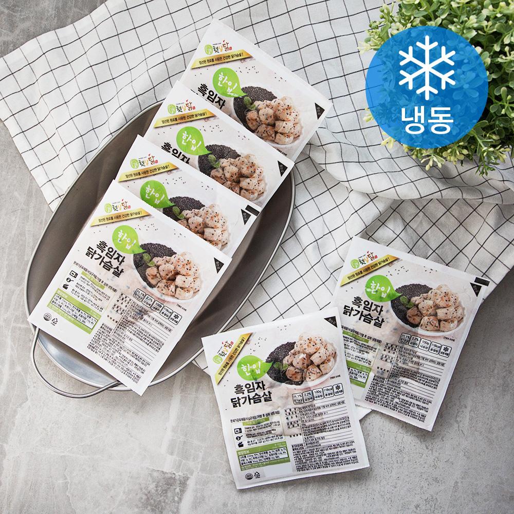 햇살닭 한입 흑임자 닭가슴살 (냉동), 100g, 6개
