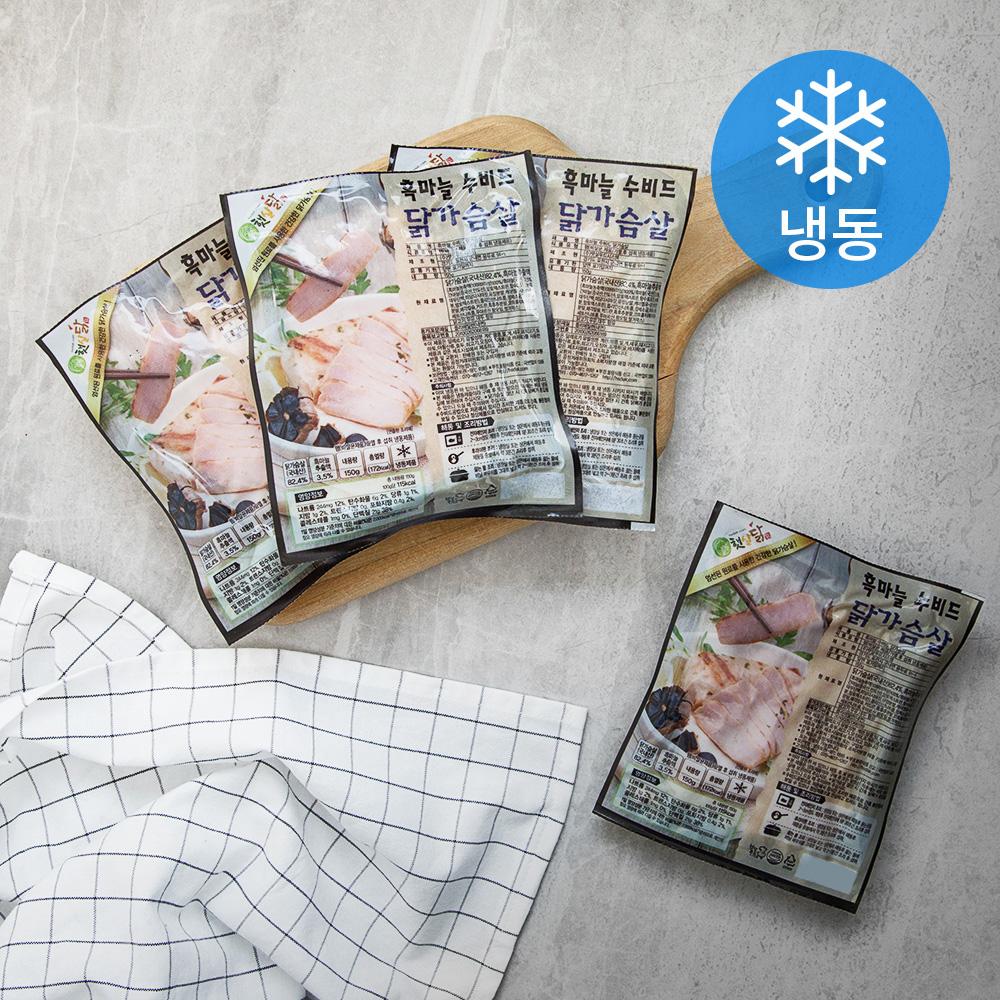 햇살닭 흑마늘 수비드 닭가슴살 (냉동), 150g, 4개