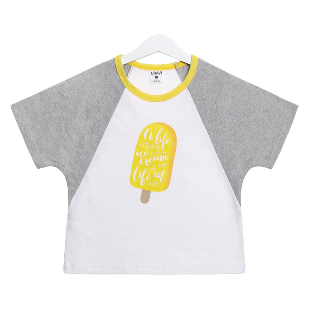 유라비 아동용 림블 프린트 반팔 티셔츠