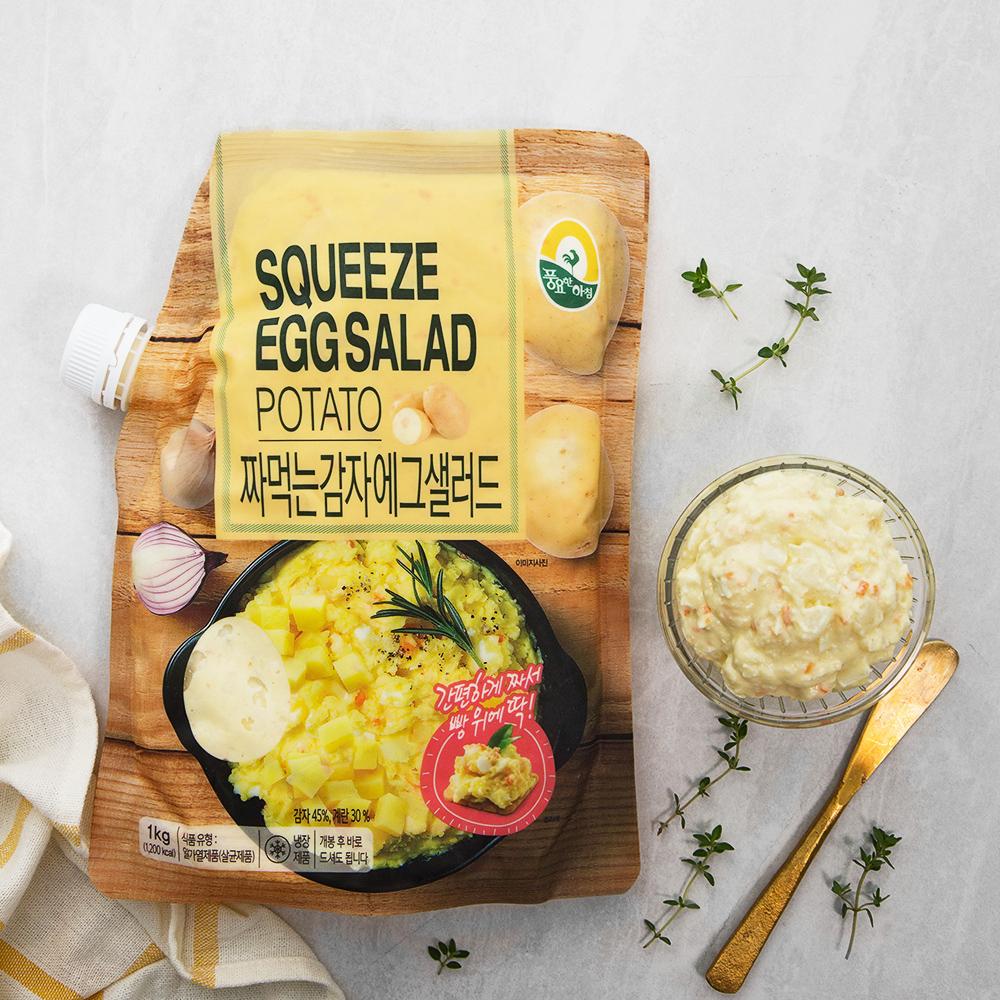 풍요한아침 짜먹는 감자 에그 샐러드, 1kg, 1개
