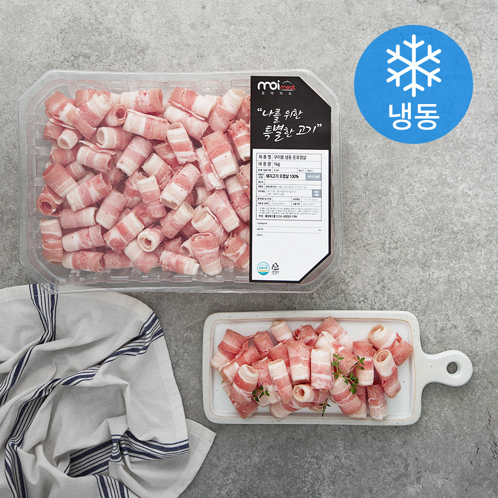 모아미트 구이용 돈오겹살 (냉동), 1kg, 1개