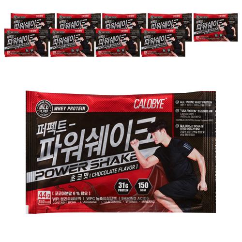 칼로바이 퍼펙트 파워쉐이크 초코맛, 44g, 10개입
