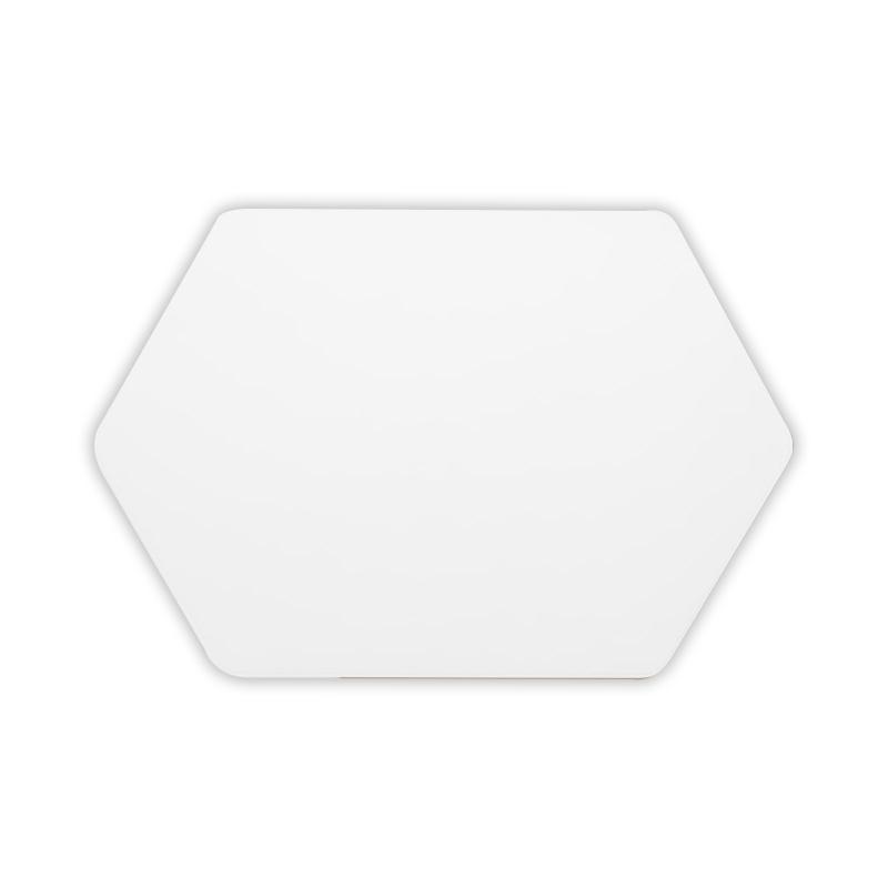 [페니체매트] 페니체 PU 투톤컬러 식탁매트 육각형, 화이트 + 베이지, 460 x 300 mm - 랭킹8위 (7690원)