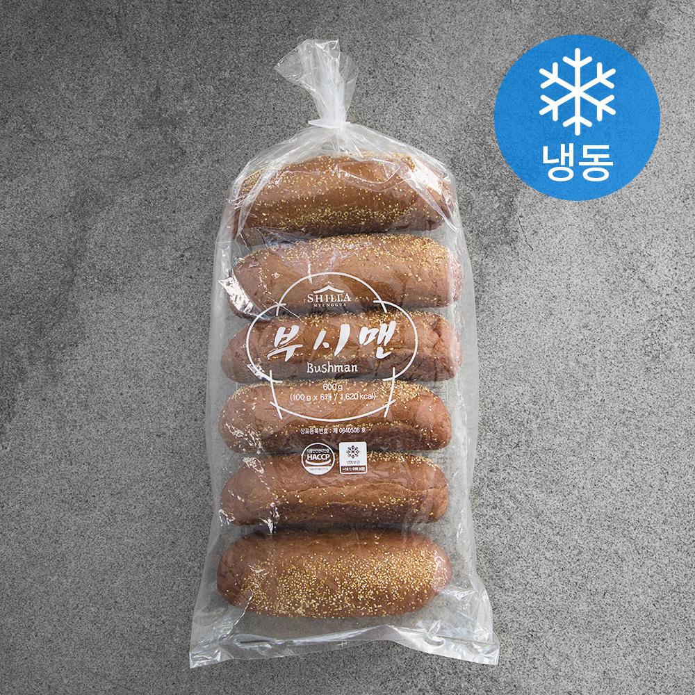 신라명과 부시맨 빵 (냉동), 100g, 6개