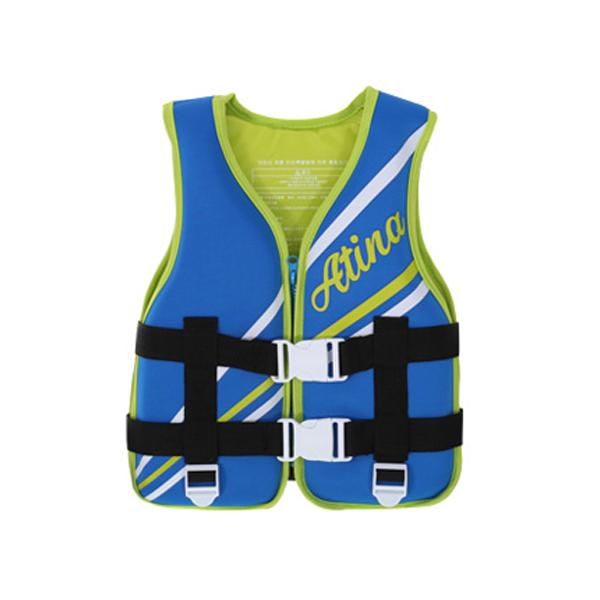 아티나 아동 네오플랜 조끼형 수영보조용품 OSKN-9N, 블루