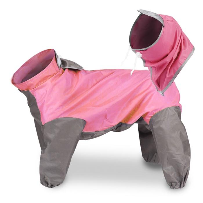 딩동펫 반려동물 올인원 우비, 핑크