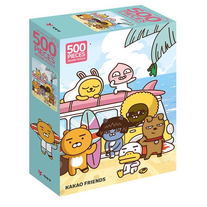 카카오프렌즈 여름아 부탁해 직소퍼즐, 500피스, 혼합 색상