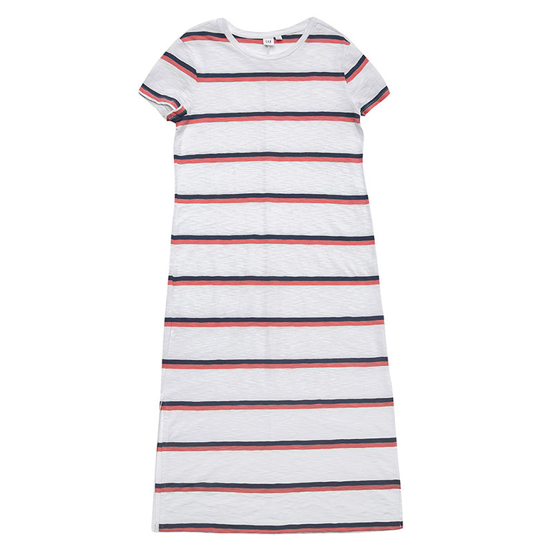 갭 여성용 반팔 미디 티셔츠 드레스