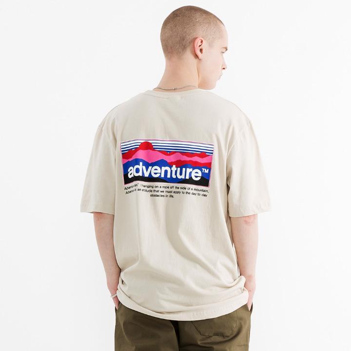 플루크 남녀공용 마운틴 선셋 반팔 티셔츠 FST118