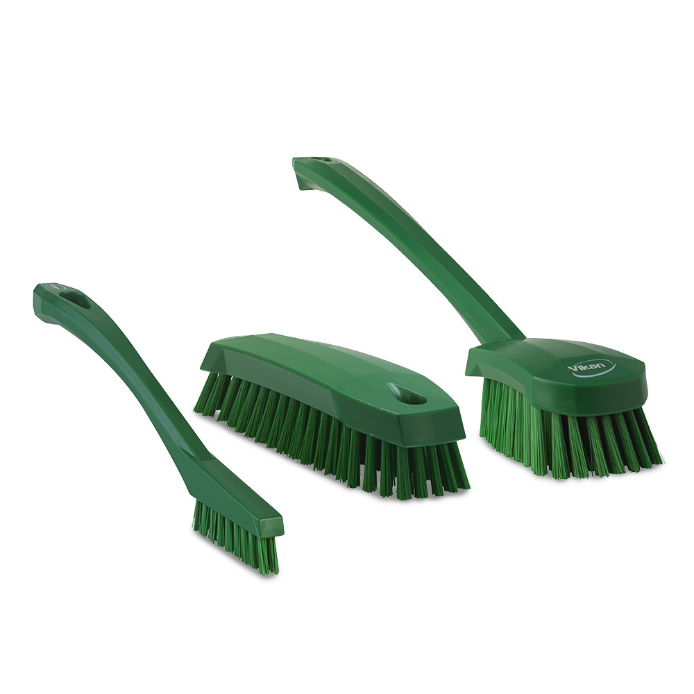 바이칸 욕실청소 브러쉬 3종 세트 B타입, 녹색, 1세트