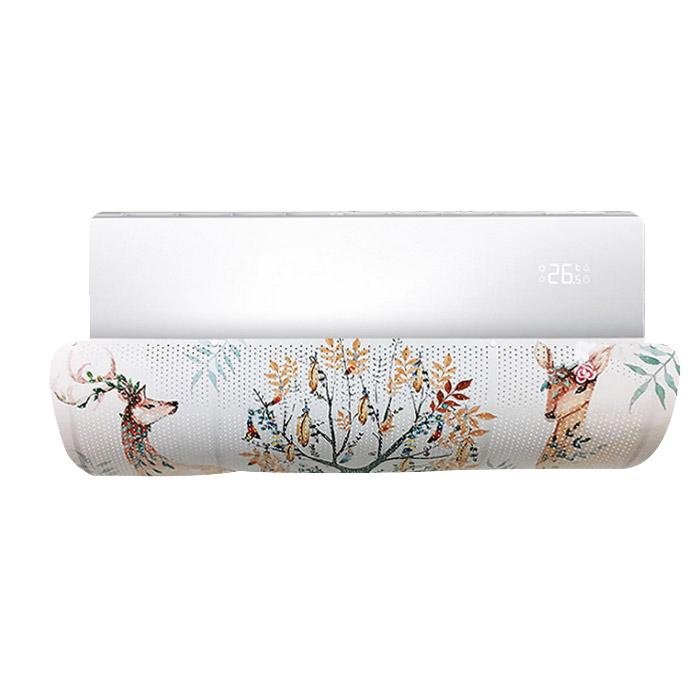 아리코 벽걸이 에어컨 윈드바이저 꽃사슴나무, 1개