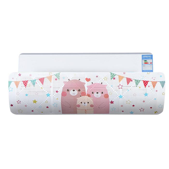 아리코 컬러 프린팅 벽걸이 에어컨 바람막이 곰가족, 단일 상품, 1개
