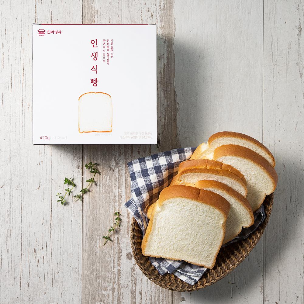 신라명과 인생식빵, 420g, 1개