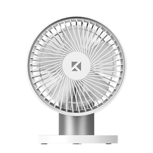 케이맥스 무선 회전 선풍기 스탠드형, HP867, 화이트