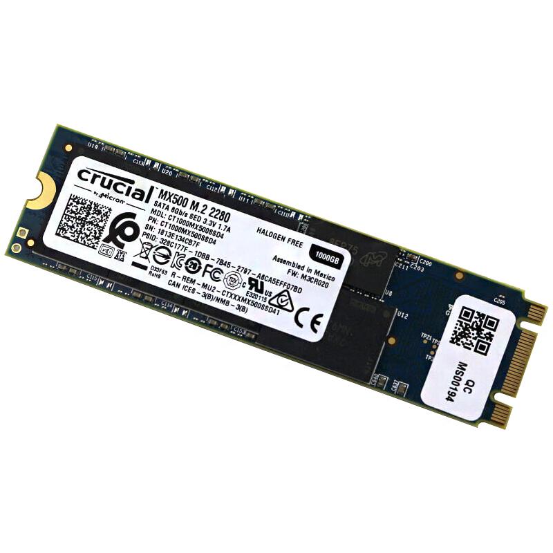 마이크론 Crucial MX500 M.2 2280 SSD, CT1000MX500SSD4, 1TB