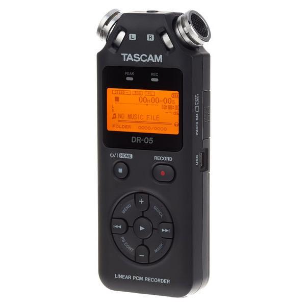 타스캠 프로용 녹음기, DR-05V2, 블랙