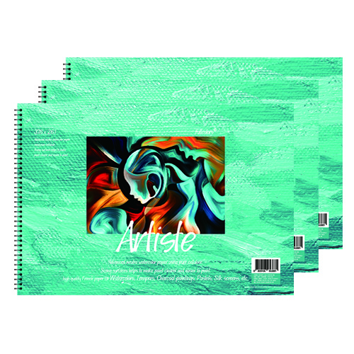 풀컬러즈 미술용 스케치북 170g x 3p, 8절, 15매