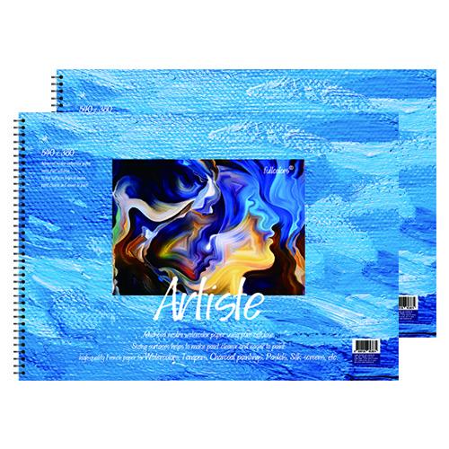 풀컬러즈 미술용 스케치북 200g x 2p, 4절, 15매