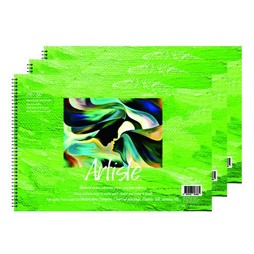 풀컬러즈 미술용 스케치북 200g x 3p, 8절, 15매