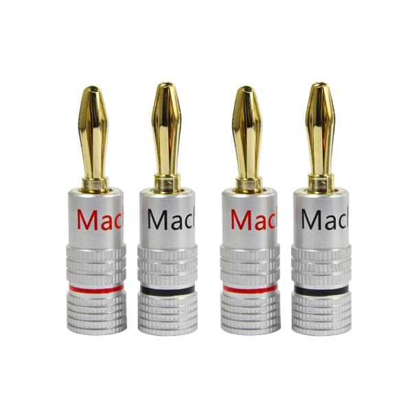 마하링크 스피커 바나나 플러그 2p x 2세트, ML-B2, 흑색, 적색