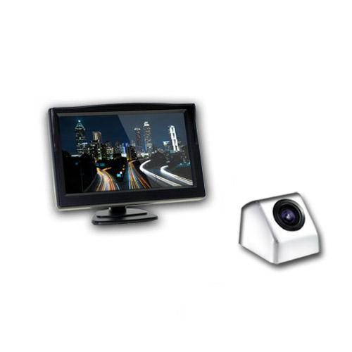 엑스비전 승용차용 모니터 후방카메라 풀세트 크롬 + 유리흡착거치대, 모니터(XTRON 501X), 카메라(XV915)