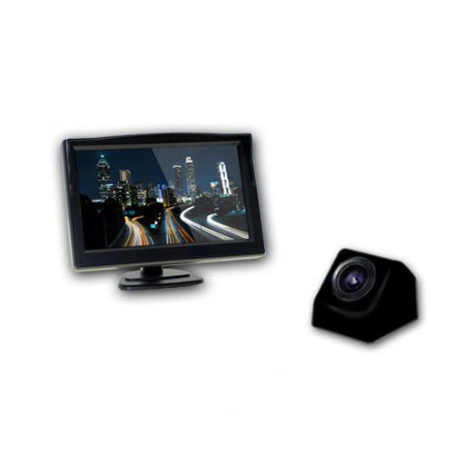 엑스비전 승용차용 모니터 후방카메라 풀세트 블랙 + 유리흡착거치대, 모니터(XTRON 501X), 카메라(XV915)