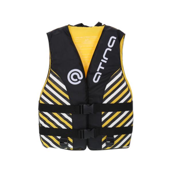 아티나 아동 조끼형 수영보조용품 OSKN-9 옐로우45kg, 옐로우