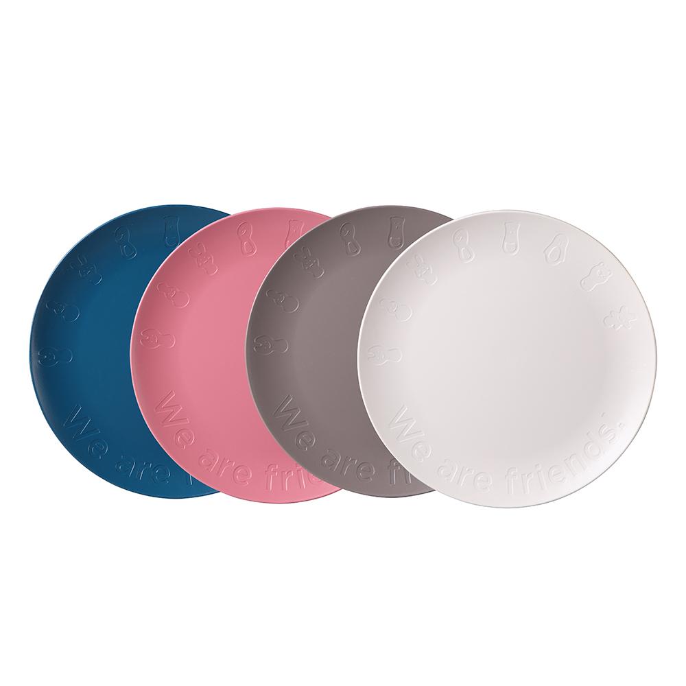 나인웨어 프렌즈 파티 접시세트, 1세트, 접시 아이보리 + 그레이 + 핑크 + 블루