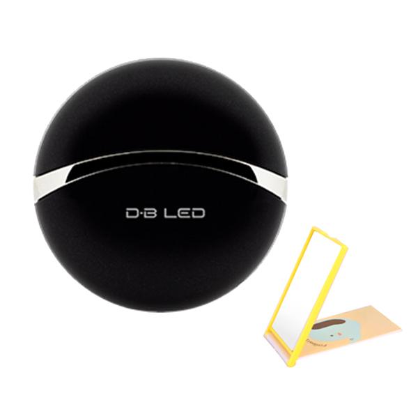 휴스톰 더마 뷰티 LED 피부마사지기+ 거울 랜덤 발송, HS-E100 Series, 블랙