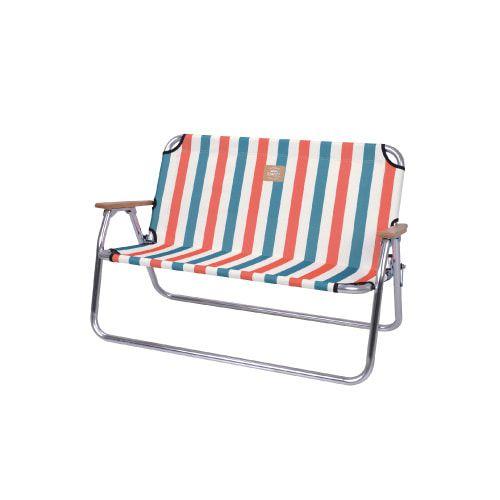스노우라인 폴딩벤치 의자, 스트라이프 오렌지, 1개