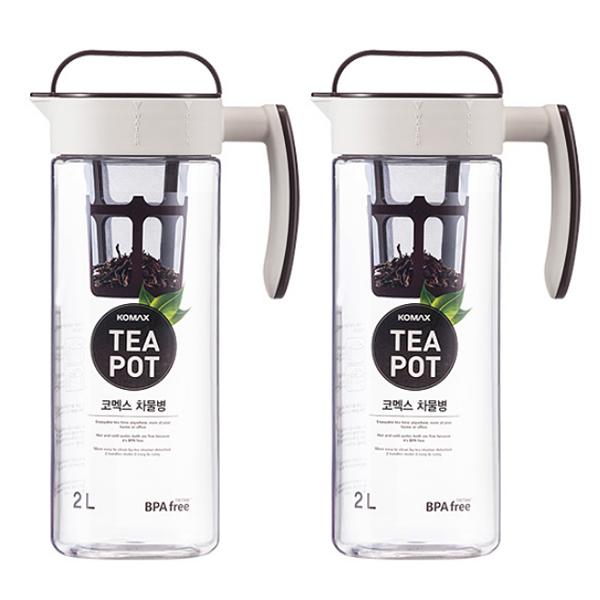 코멕스 티팟 냉장고 물병 2p, 혼합 색상, 2L