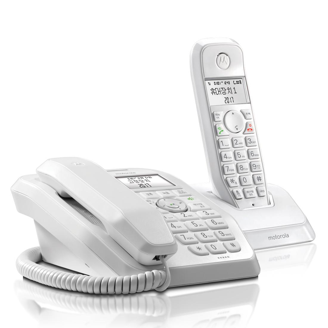 모토로라 유무선 전화기 SC250A 화이트