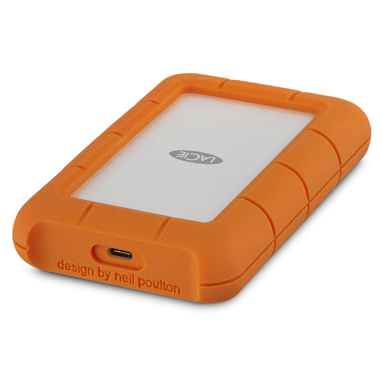 LACIE Rugged USB C 외장하드 + 케이스 STFR5000800, 5TB, Silver